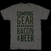 Camping Gear, Bacon, & Beer