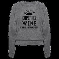 Coffee Cupcakes Wine Champaign