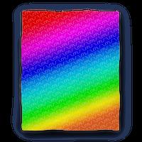 Emoticon Shrugs Rainbow Gradient