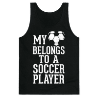 My Heart Belongs To A Soccer Player (Dark Tank)