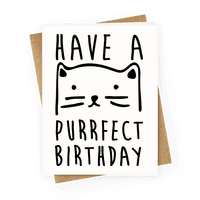 Have A Purrfect Birthday Greetingcard