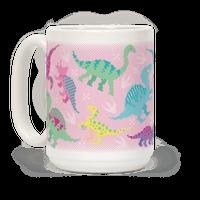 Cute Pastel Pixel Dinosaurs
