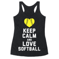 Keep Calm and Love Softball (Tank)