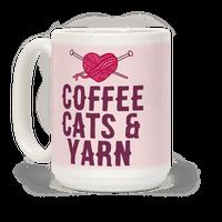 Coffee, Cats And Yarn Mug