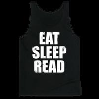Eat Sleep Read (White Ink)