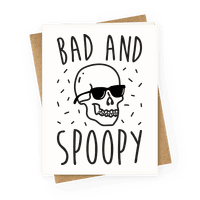 Bad And Spoopy Greetingcard