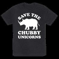 Save The Chubby Unicorns Tee