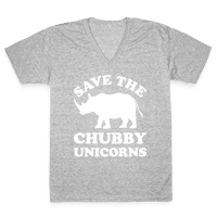 Save The Chubby Unicorns Vneck
