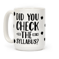 Did You Check The Syllabus?