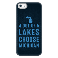 4 Out Of 5 Lakes Choose Michigan Phonecase