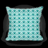 Blue Mermaid Scales Pattern