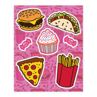 Fun Junk Food Sticker