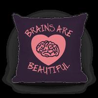 Brains Are Beautiful Pillow (Purple)