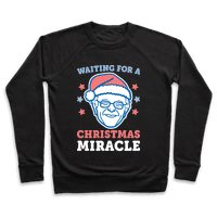 Waiting For A Christmas Miracle Bernie Sanders - White