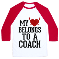 My Heart Belongs To A Hockey Coach (Baseball Tee)