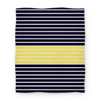 Navy and Yellow Stripe Blanket