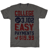 College Only 3,102 East Payments Of $19.99