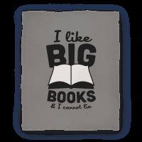 I Like Big Books And I Cannot Lie Blanket (Grey)