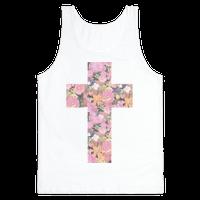 Vintage Floral Cross