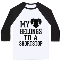 My Heart Belongs To A Shortstop (Baseball Tee)
