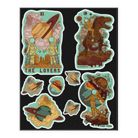 Space Tarot Cards Sticker