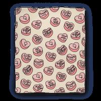 Feminist Conversation Hearts Blanket