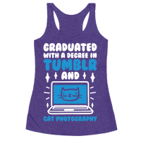 Graduated With A Degree In Tumblr And Cat Photography Racerback