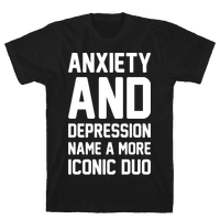 Anxiety and Depression Name A More Iconic Duo White Print
