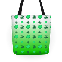 Weed and Hearts Green Ombre Pattern