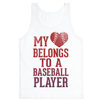 My Heart Belongs To A Baseball Player (Red Tank)