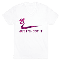 Just Shoot It Pink (V-neck)