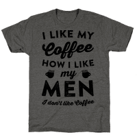I Like My Coffee How I Like My Men (I Don't Like Coffee)