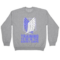 "ATTACK ON TITAN /""TRAINING FOR THE SURVEY CORPS/"" SWEATSHIRT NEW"