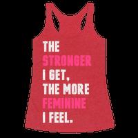 Strong Feminine Workout Racerback