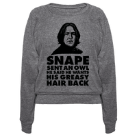 Snape Sent an Owl He Said He Wants His Greasy Hair Back