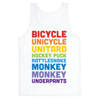 Bicycle Unicycle Unitard Hockey Puck Rattlesnake Monkey Monkey Underpants