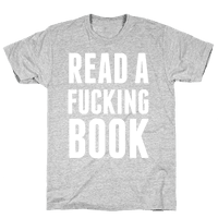 Read A Fucking Book (White Ink) Tee