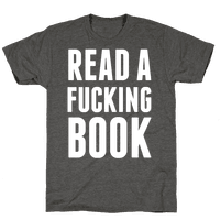 Read A Fucking Book (White Ink)