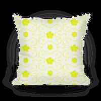 Yellow Floral Wallpaper Pattern