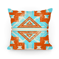 Orange and Teal Aztec Pattern