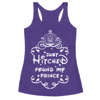 Just Hitched Found My Prince Racerback