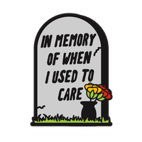 In Memory Of When I Used To Care Wall-decal