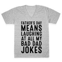 aad1925a Father's Day Means Laughing At All My Bad Dad Jokes Baseball Tee ...