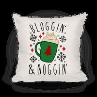 Bloggin' and Noggin' Pillow