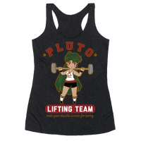 Pluto Lifting Team Parody Racerback