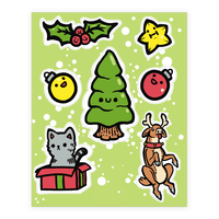 Cute Christmas Friends Sticker