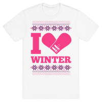 I Love Winter (Snowboard Heart)