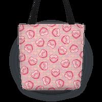 Shrug Emoji Candy Hearts Pattern