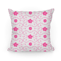 Pink and White Floral Wallpaper Pattern