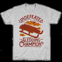 Undefeated Sledding Champion